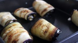 Rollitos de berenjena a la italiana (Involtini di melanzane)