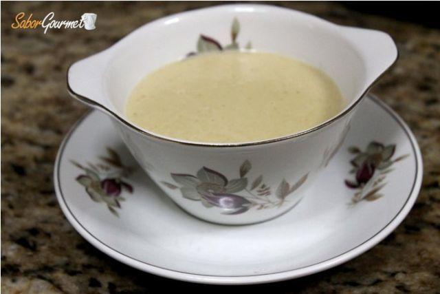 salsa de cebolla con coñac
