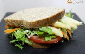 Sandwich vegetal, rápido y espectacular