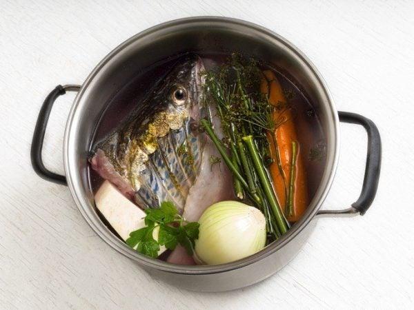 Sopa pescado verduras