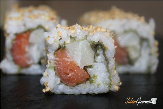sushi salmón y bacalao